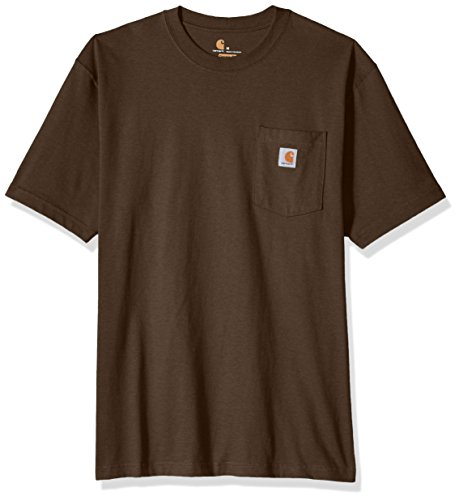 Carhartt Men's Workwear Pocket Short Sleeve T-Shirt, Dark Coffee Heather, Small -