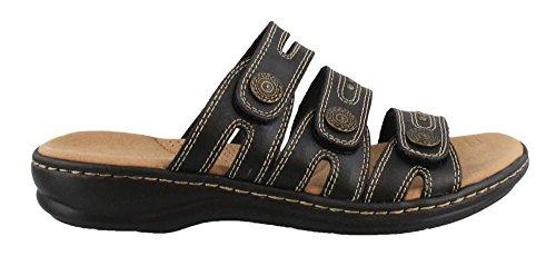 CLARKS Women's, Leisa Lakia Slide on Sandals Black 9.5 W by CLARKS