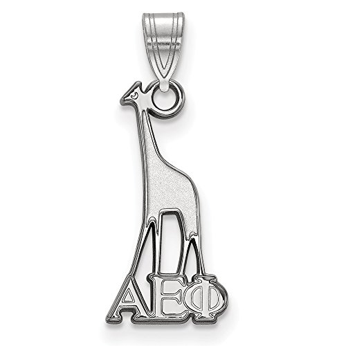 925 Sterling Silver Officially Licensed Alpha Epsilon Phi Small Pendant (22.75 mm x 9.5 mm)