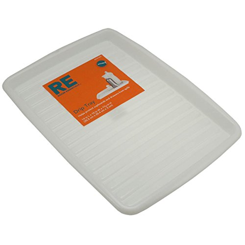 Amazon.com | 1 X 2 Room Essentials White Kitchen Drip Spill Trays Cupboard  Drawer Plastic Liners: Serving Trays