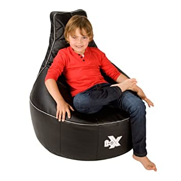 I EX® Rookie Gaming Chair  Faux Leather   Kids Gaming Bean Bag   Great For  A Gamer (Steel/Black): Amazon.co.uk: Kitchen U0026 Home
