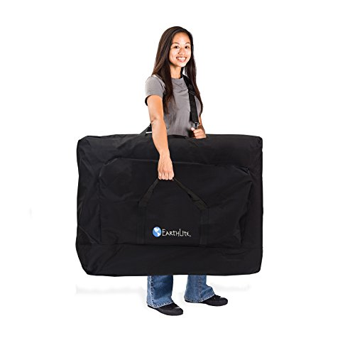 "EARTHLITE Portable Massage Table Package AVALON TILT - Reiki Endplate, Premium Flex-Rest Face Cradle & Strata Cushion, Carry Case (30""x73"")"