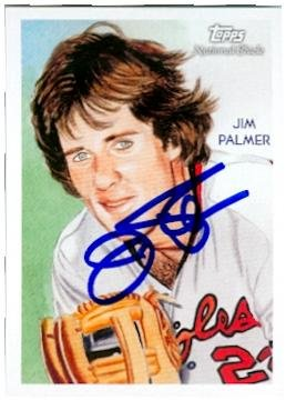 Jim Palmer autographed baseball card (Baltimore Orioles) 2010 Topps #211 Diamond Stars - Jim Palmer Baseball