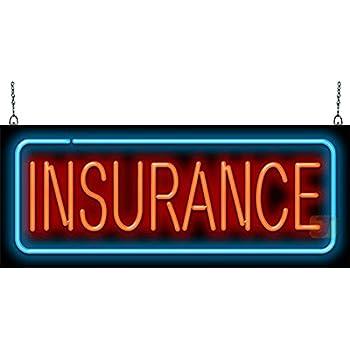 Auto Insurance Neon Sign - Made In USA - - Amazon.com