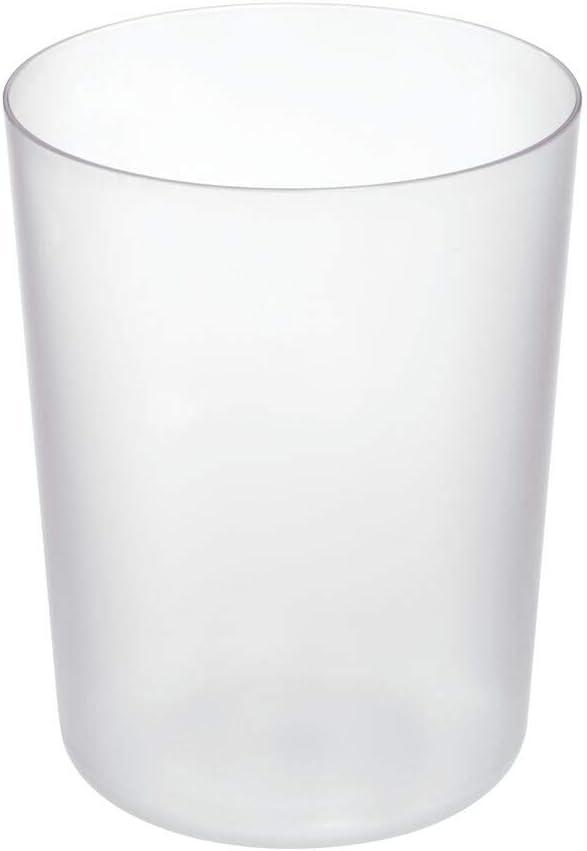 "iDesign Finn BPA-Free Plastic Round Waste Basket - 7.64"" x 7.64"" x 10"", Clear"