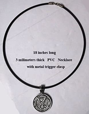 Amazon com: Lucifer Sigil Seal of Satan Pewter Pendant