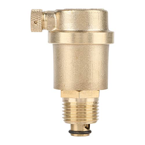 Automatic Air Vent valve,Hilitand G1/2 Brass DN15Solar Water Heater Pressure Relief Valve ()