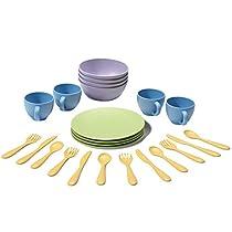 Green Toys - Set de platos, vasos y cubiertos (DSH01R)