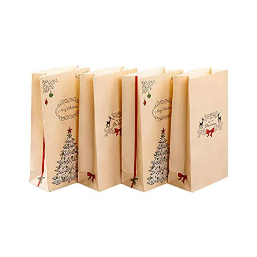 24X Pouch Kraft Paper Kraft Paper Papers Kraft Paper with Aluminum Foil, for Tea Coffee Bean Biscuit Slice Sugar Storage Size 12cm 6cm 22cm (Color : -, Size : -)