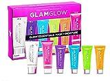 GLAMGLOW Glow Essentials Mask + Moisture Travel Set - SUPERMUD (0.7 oz), GLOWSTARTER NUDE (0.5 oz), GRAVITYMUD (0.35 oz), THRISTYMUD (0.35 oz), POWERMUD (0.35 oz) & FLASHMUD (0.35 oz)