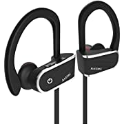 Antimi Bluetooth Headphones,IPX7 Waterproof HD Stereo Sweatproof Earbuds for Gym Running Magnetic Earbuds Secure Fit Noise Cancelling Headset with Mic for Workout Premium Cordless (Antimi5)