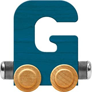 product image for Maple Landmark NameTrain Bright Letter Car G - Made in USA (Blue)
