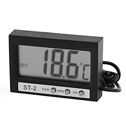 eDealMax acuario Pantalla LCD sumergible -50 a 70 ° C Termómetro Digital