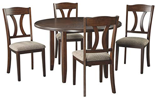 Signature Design by Ashley D362-225 Charnalo Dining Room Table and Chairs (Set of 5), Medium Brown (Dining Driftwood Chairs)