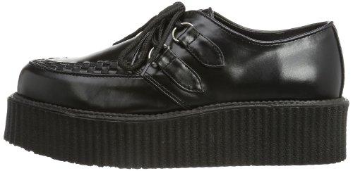 Demonia À Lacets Noir Basses Chaussures 502 Homme V creeper 6rxq46zC