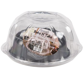 DollarItemDirect BAKE N TAKE BUNDT FORM PAN W/ACRYLIC CARRIER, Case Pack of 4