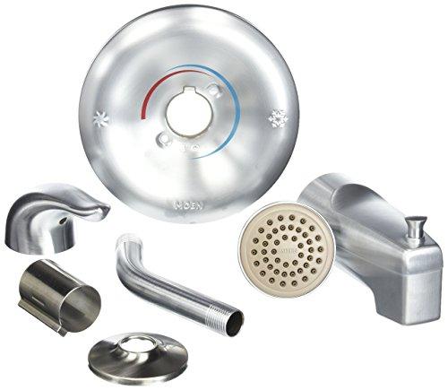 Moen TL183BC Single Handle Tub and Shower Trim, Brushed (Brushed Chrome Tub)