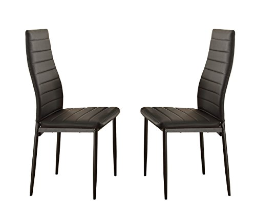 Homelegance Florian Metal Dining Chairs with Bi-Cast Vinyl Back and Seat Cover (Set of 2), (Cast Seat Side Chair)