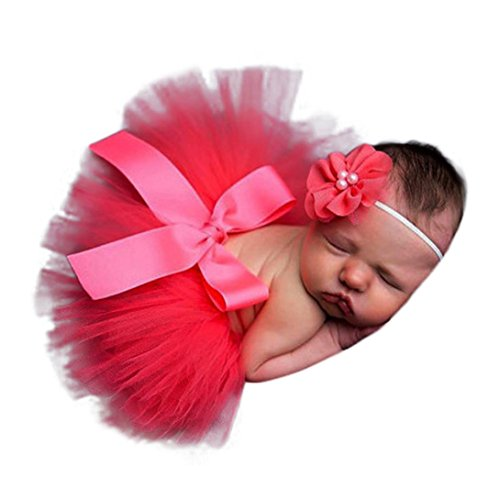Newborn Baby Girls Boys Costume Photo Photography Prop Outfits skirt dress (0-4 months old, B)