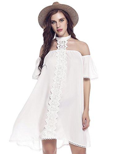 Buy bell sleeve lace mini dress - 8