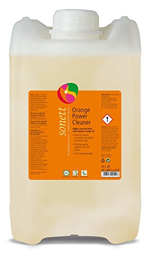 (Sonett Organic Orange Universal Power Cleaner 10L/ 2.6 Gallon -with Orange Oil from Organic Cultivation-Pure Herbal Intensive Cleaner-Excellent for Cleaning Floors & Windows -pH Value: 7.5-8.5)
