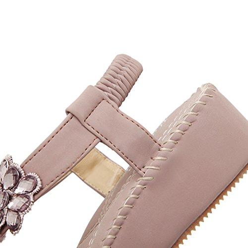 élastique 1 Sangle Forme Plate DQQ Femme Sandale Violet Perles q6wgvt