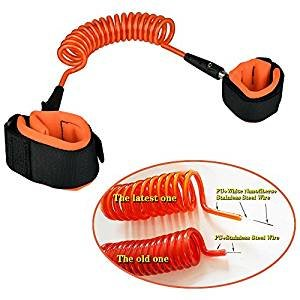 Sunny & Lucky Anti lost Wrist Link Toddler Leash Safety Harness for Baby & Kids orange