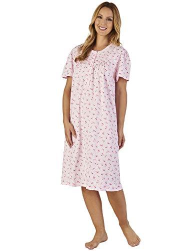 Pink Loungewear Floral Women's ND2100 Nightdress Gown Jersey Night Slenderella 8H7qq