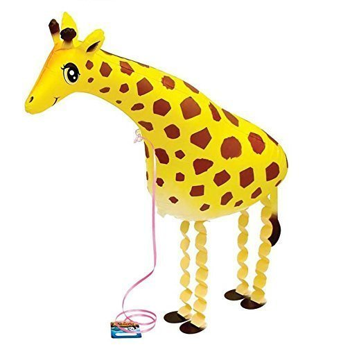 Yellow Air - Miyaya® Walking Pet Balloon Cute Yellow Giraffe Animal Air Walker Helium Foil Balloon For Children Kids Fun Party
