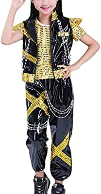 Girls Street Dance Costumes Stage Performance Show Basketball Skateboard Outdoors Sports Printing Camouflage Costumes Daytwork Jazz Hip-Hop Dancewear