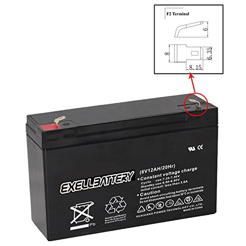 New 6V 12Ah SLA F2 Battery Rechargeable AGM Replaces WB6120F2 for UB6120, D5778 Many Uses Alarm System, fire Alarm, Burglar Alarm, UPS Backup Battery, Smoke Detector, exit Signs, inverters, Lighting