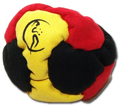 PRO Footbag AKA Hacky Sack Freestyle, 6 Panneaux (Noir/Jaune/Rouge) Parfait pour les stands et les retards! Idéal pour les débutants. 6 Panneaux (Noir/Jaune/Rouge) Parfait pour les stands et les retards! Idéal pour les débutants.