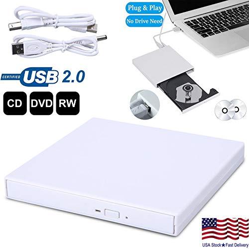 USB External Combo Optical Drive CD/DVD Player CD Burner for PC Laptop Win 7 8