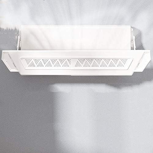 TIZJ Retráctil del acondicionador de Aire del Deflector Ajustable Deflector Parabrisas Anti Directa Blowing Deflector No Hay Necesidad de perforar o Pasta, for el hogar/Oficina - Blanco (Color : A): Amazon.es: Hogar