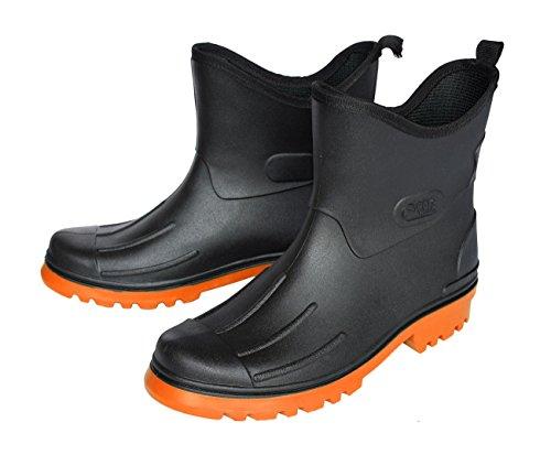 Orange 1239 Moderne Schwarz EU PVC Herren Stiefel F8w1XF