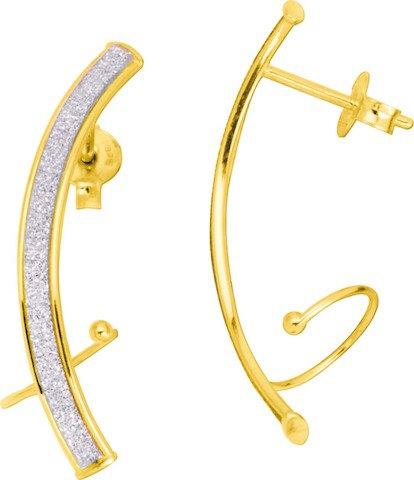 DILHYA - Boucles d'oreilles - Or Jaune 375/00 - www.diamants.perles.com