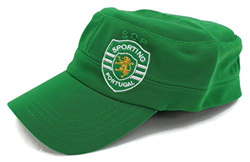High End Hats World Soccer / Football Team Military Hat Collection Embroidered Flexfit Army Style Cap, Sporting Clube de Portugal, Green (Embroidered Print Rugby)