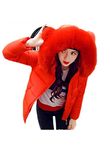 con con Moda con Piel Capucha Hipster Rojo Modernas Plumas De Corto Outwear Abrigos Invierno Capa Larga Mujer Manga Bolsillos Cremallera Laterales Cuello T0qnw5dI