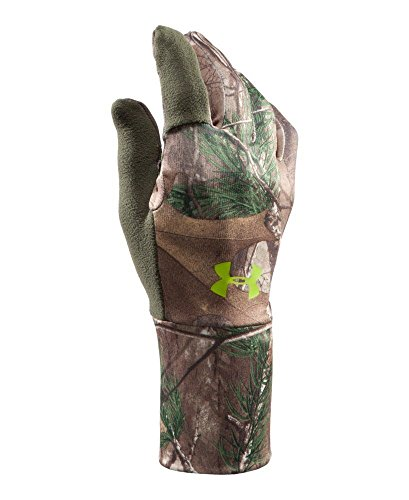 Under Armour Mens UA Scent Control Gloves Large REALTREE - Hunting Gloves Under Armour