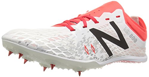 New Balance Md800v5 Spikes, Chaussures DAthlétisme Femme Blanc (White/orange)