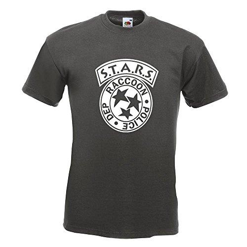 shirt Xxl Graphite T Police M Différentes 15 Coton Motif Department Couleurs Xl Imprimé Raccoon L Fun En Homme Kiwistar S nCWIf