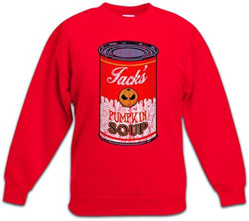 Jack's Pumpkin Soup II Kids Children Boys Girls Sweatshirt Pullover Red -