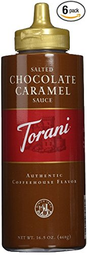 Torani Salted Chocolate Caramel Sauce, 16.5 oz (2 pack) (Salted Sauce Sweet)