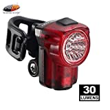 Cygolite Hotshot Micro- 30 Lumen Bike Tail Light- 3 Night & 2 Daytime Modes- Wide Scattered Beam- Compact Design- IP64 Water Resistant- Sturdy Flexible Mount- USB Rechargeable- Great for Busy Roads