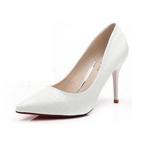 Inconnu Dames Chaussures Pompes Peau de Croco Faux PU Cuir Bout Pointe Stiletto Talon Aiguille Slip On Escarpins Élégant Féminins Confortable Antidérapant o5bDu