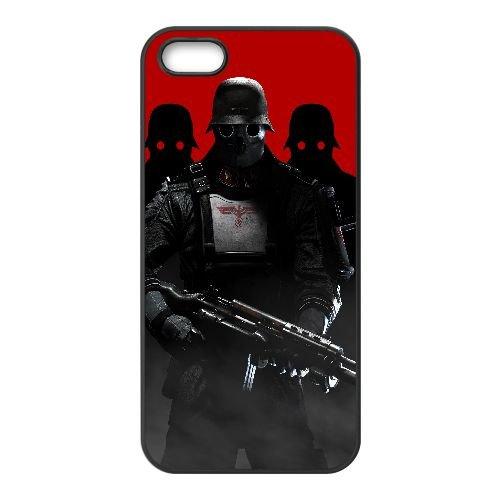 Y1S32 Wolfenstein le nouvel ordre D4M2HK coque iPhone 5 5s cellulaire cas de téléphone couvercle coque noire IH1LYN6TJ