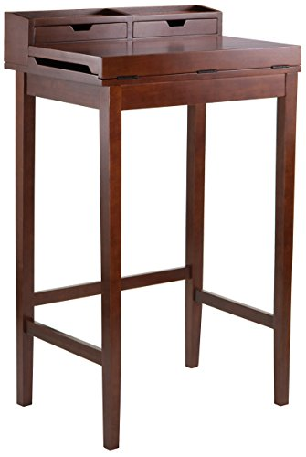 h Desk with 2-Drawer, Brown (Winsome Office Writing Desk)