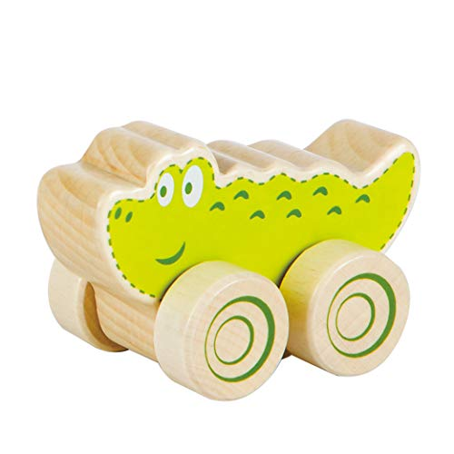 Fat Brain Toys Nature Buddies Wooden Rollers - Crocodile