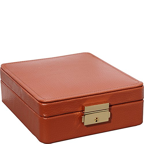 Budd Leather Pebble - Budd Leather 15-Section Ring/Earring Box, Tan