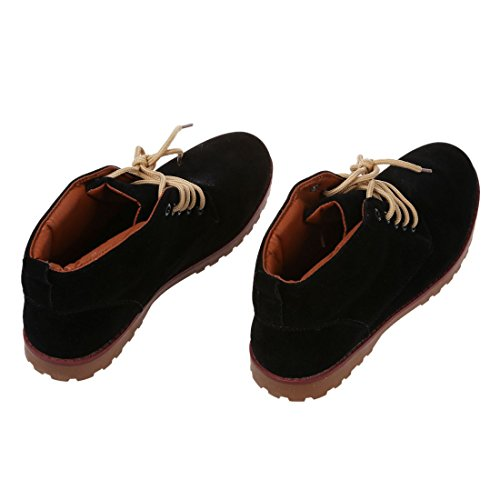 Neuf Casual Mode de Daim Mocassins 5 Chaussures Tennis Bottes Noir£¨8 EUR Hommes 41£© R SODIAL Britannique Chaussures Cheville UK7 Cuir Lacet qAwX5SE6n